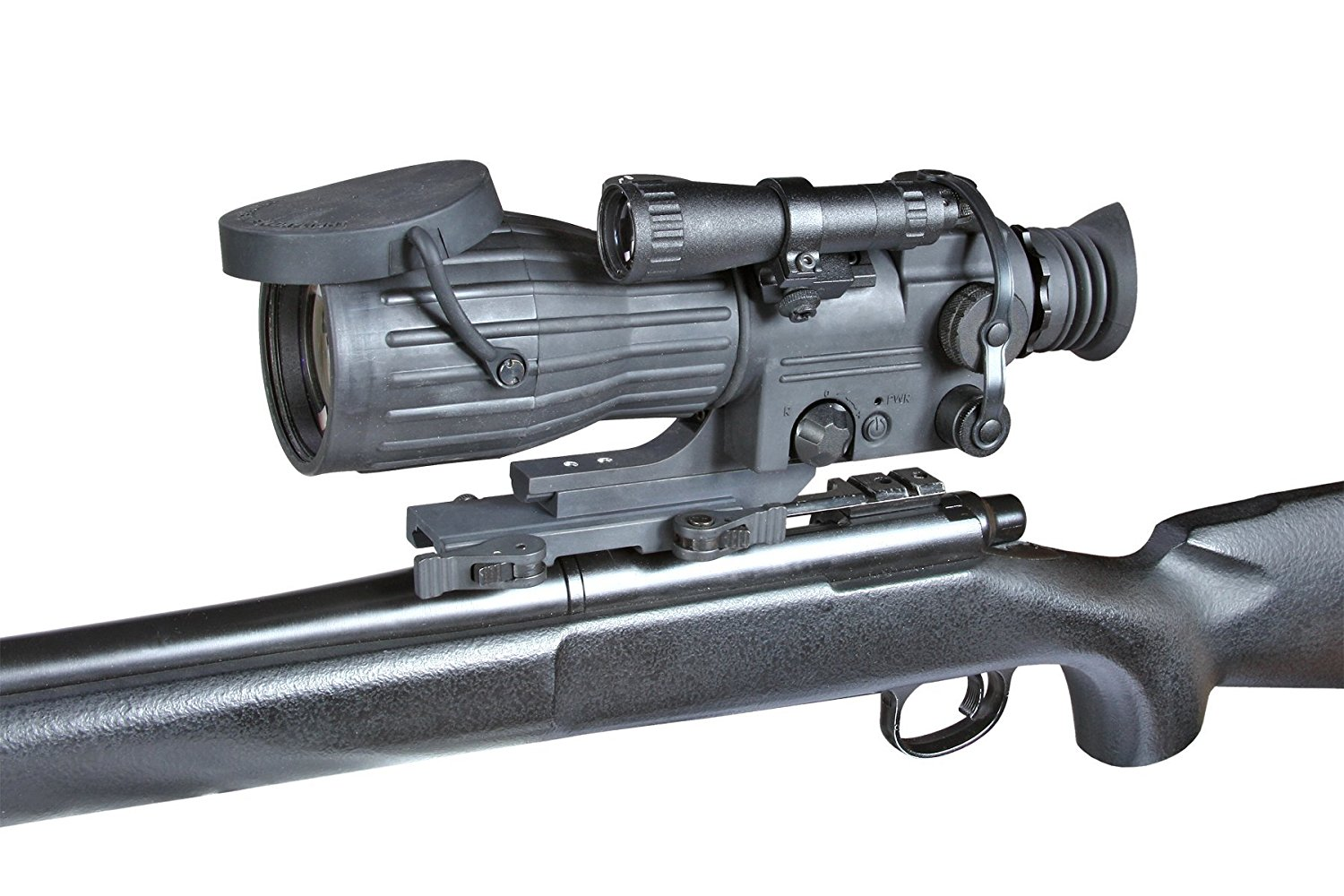 Armasight Orion 5x Gen 1+ Night Vision Rifle Scope Attached