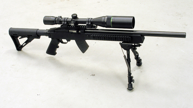 Ruger Rifle with a Mueller Rifle Scope